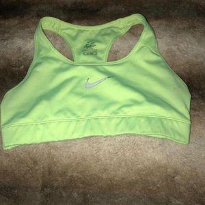 XS Nike Dry Fit sports bra. Neon yellow